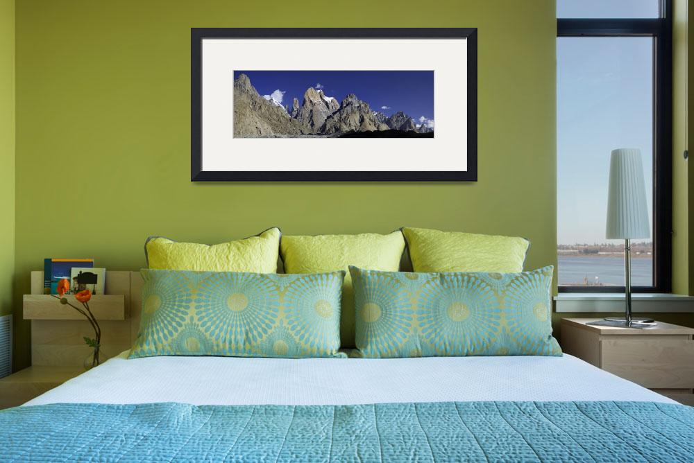 """Trango Towers Panorama""  (2006) by chrisjoint"