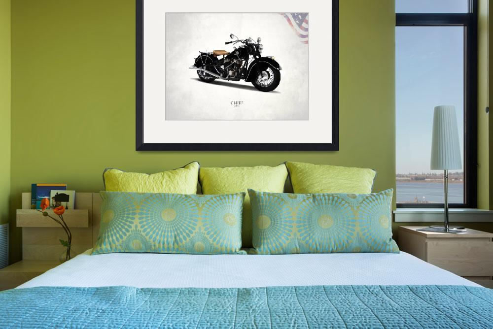 """""""The 1946 Indian Chief Motorcycle""""  by mark-rogan"""