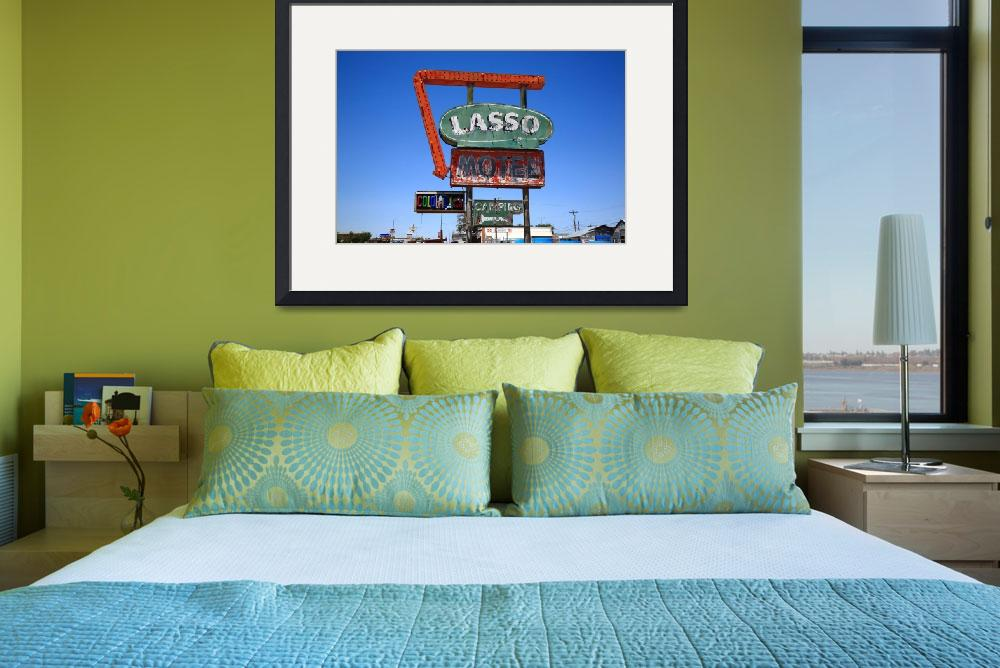 """""""Route 66 - Lasso Motel&quot  (2012) by Ffooter"""