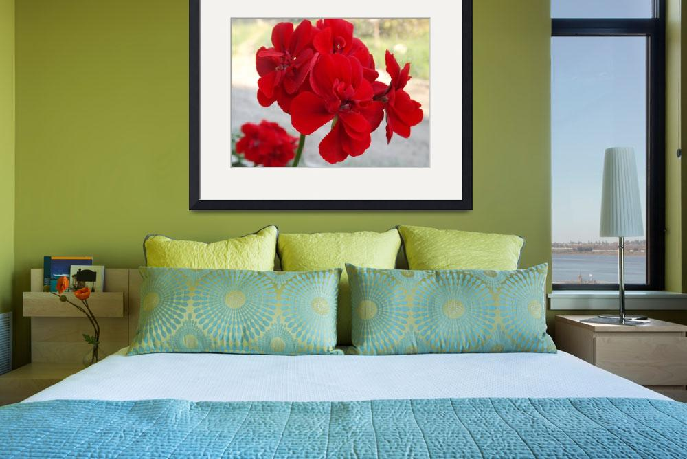 """""""Red Flowers&quot  (2013) by Marki10West"""