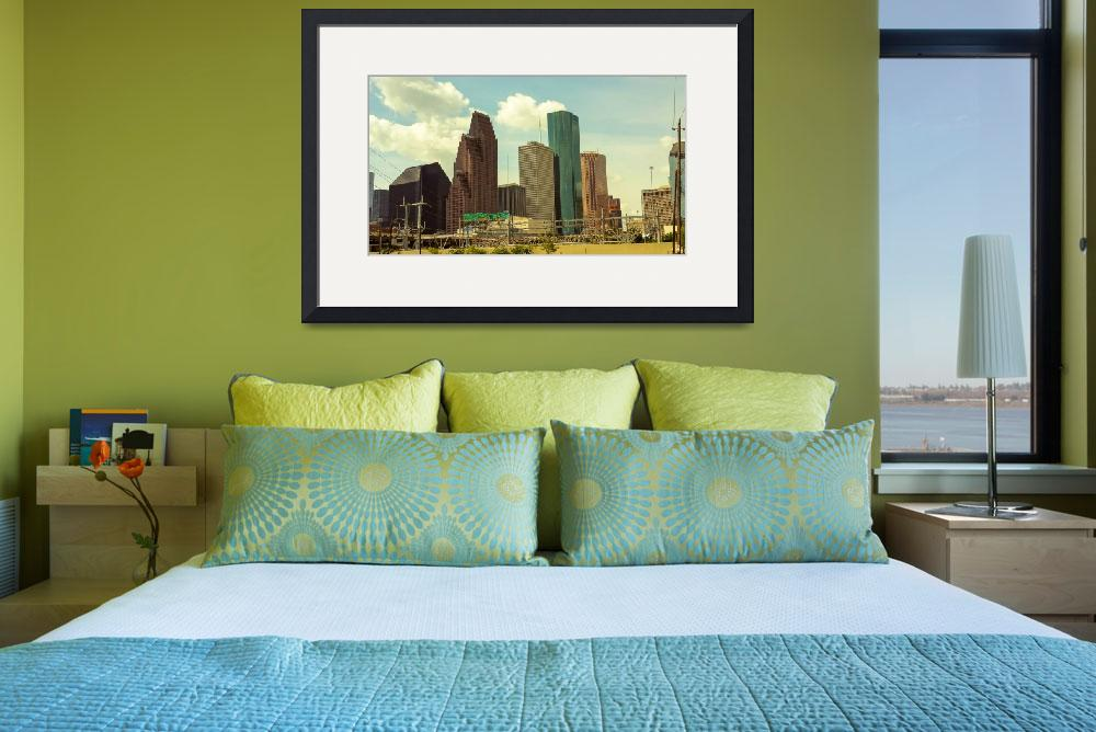 """City Skyline Art 28""  (2016) by positivebusinessdesigns"