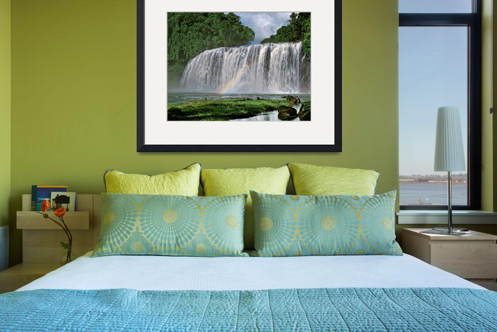 """""""Tinuy-an Falls,Philippines&quot  by Leksele"""