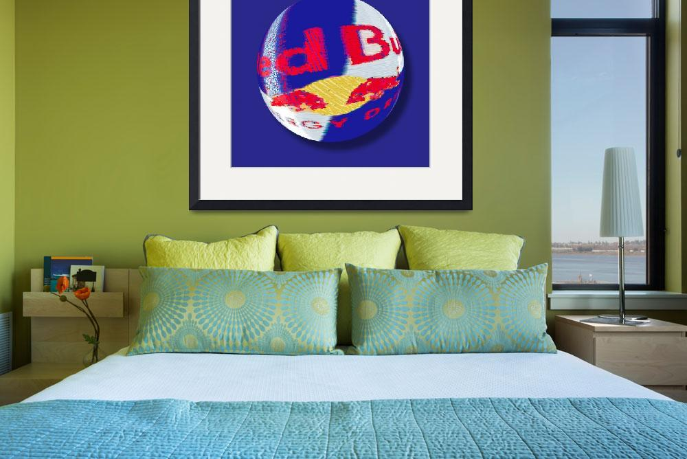 """""""Red Bull Orb""""  (2014) by RubinoFineArt"""