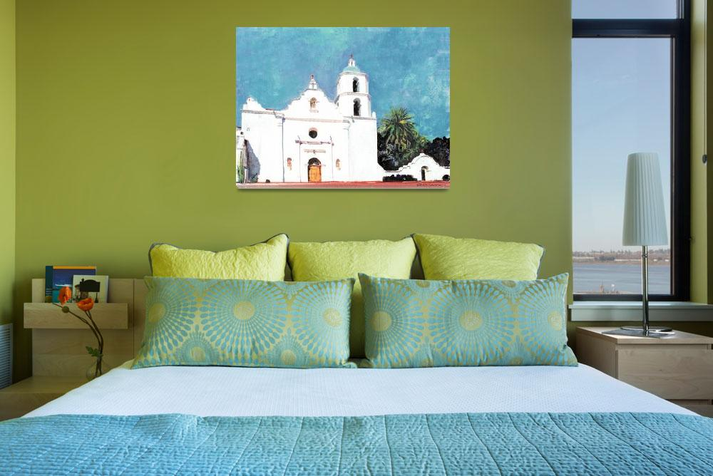 """""""Mission San Luis Rey Oceanside California&quot  (2010) by RDRiccoboni"""