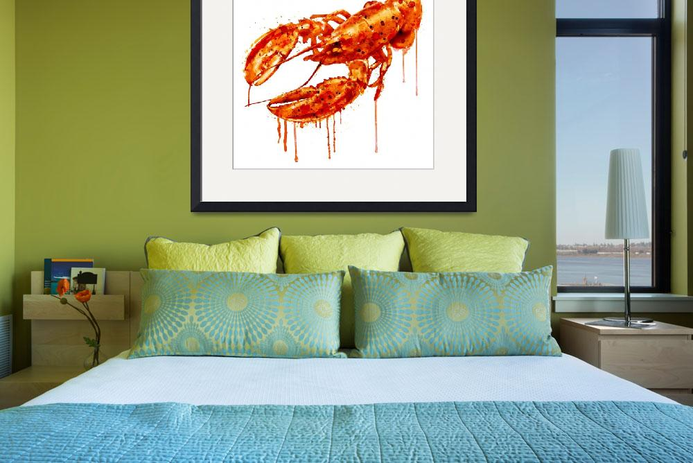 """Crayfish Watercolor Painting""  (2015) by MarianVoicu"