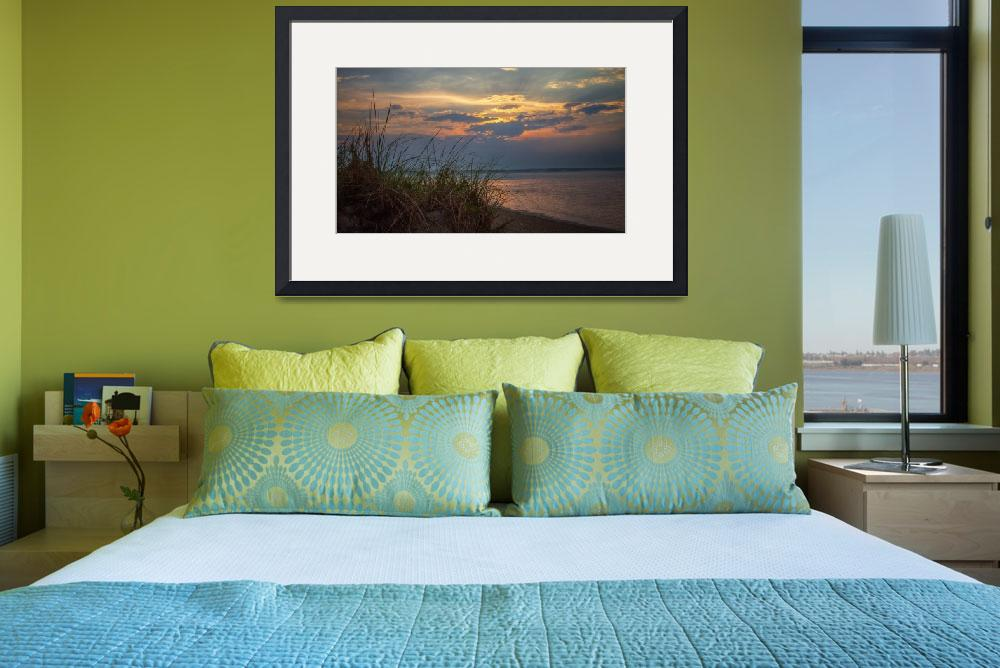 """""""Sunset Seabrook Harbor&quot  (2014) by awevans"""