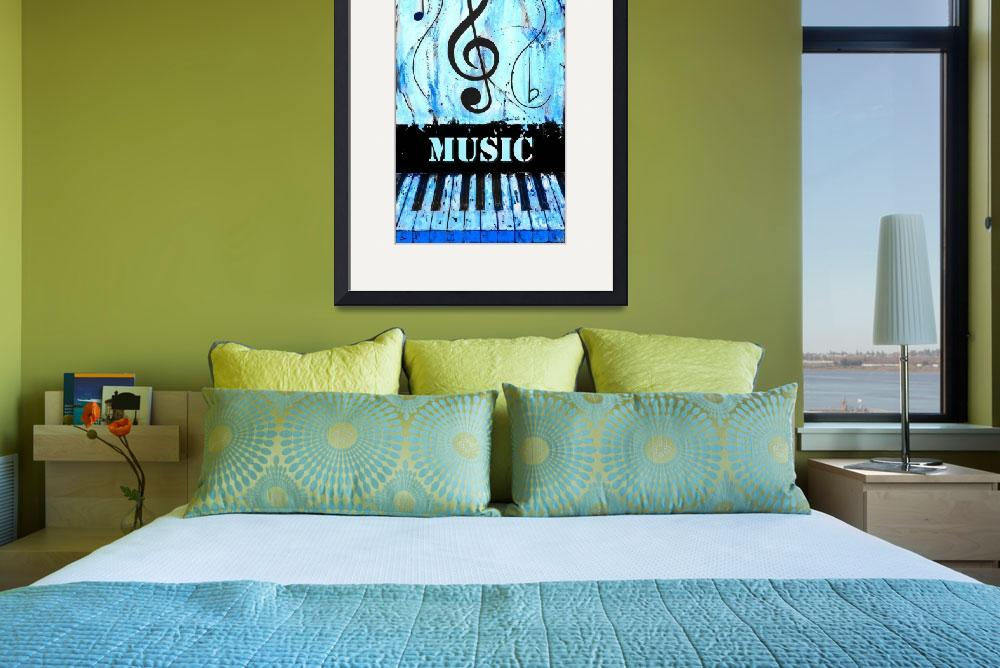 """""""Music 3 Blue&quot  by waynecantrell"""