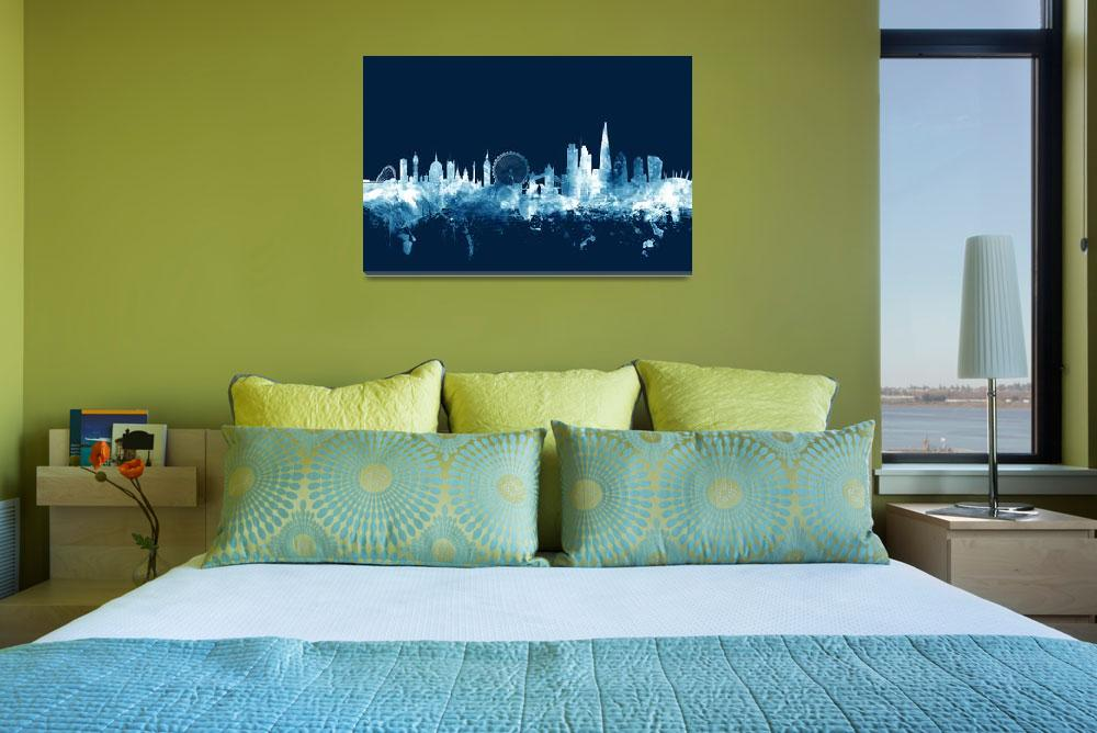 """London England Skyline""  (2015) by ModernArtPrints"
