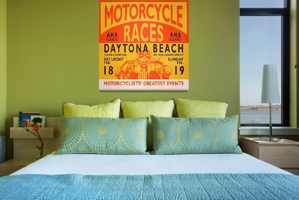 """Motorcycle Races Daytona Beach Poster&quot  by mark-rogan"