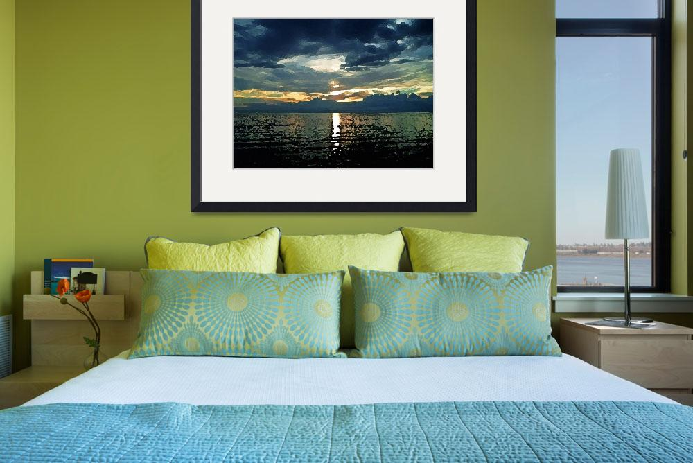 """""""green sunset no. 14 – the dream begins&quot  (2009) by sunsetcolors"""