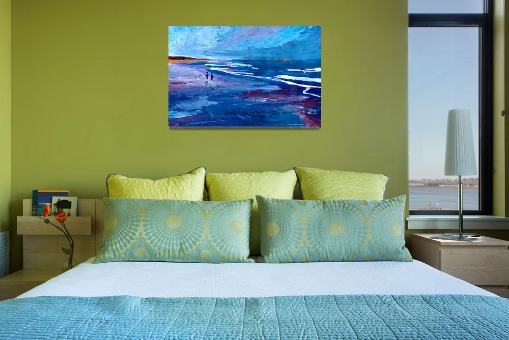 """""""Blue Californian Seascape In Big Sur&quot  by arthop77"""