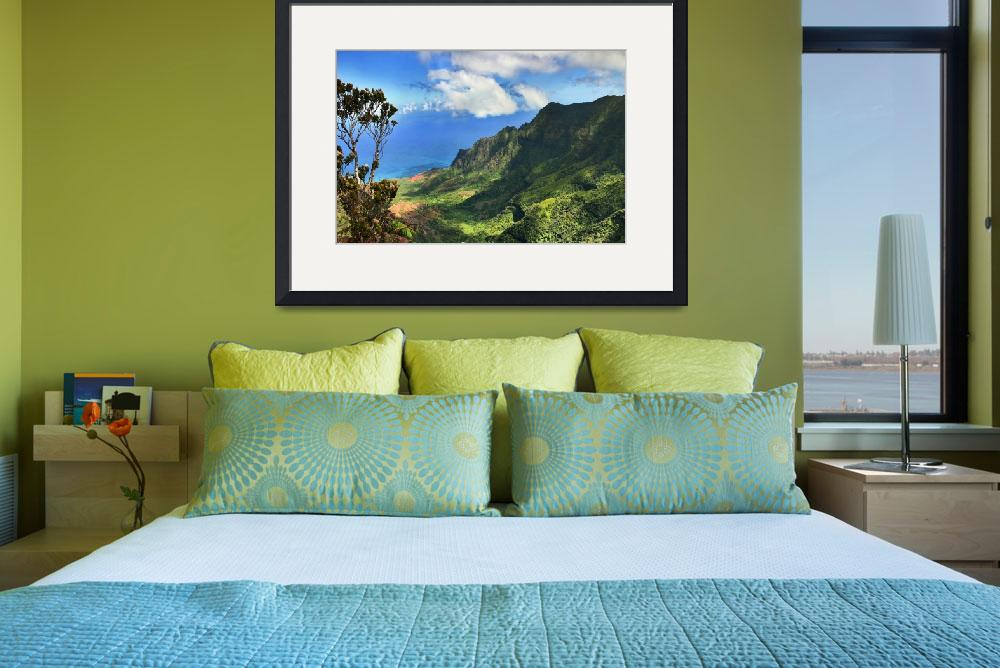 """""""Kalalau Valley Lookout in Kokee State Park&quot  (2006) by PJPHOTO"""
