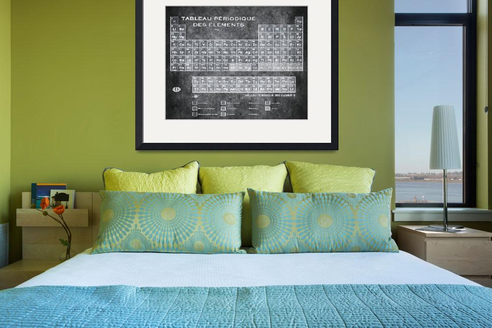"""""""Tableau Periodiques Periodic Table Of The Elements&quot  (2015) by RubinoFineArt"""