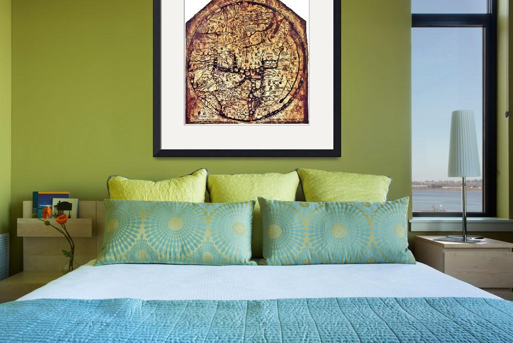 """Hereford Mappa Mundi 1300&quot  (2013) by TheNorthernTerritory"