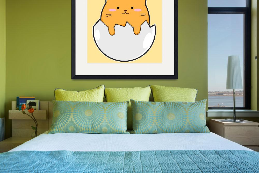 """""""Yellow Cat Egg&quot  (2017) by Catifornia"""