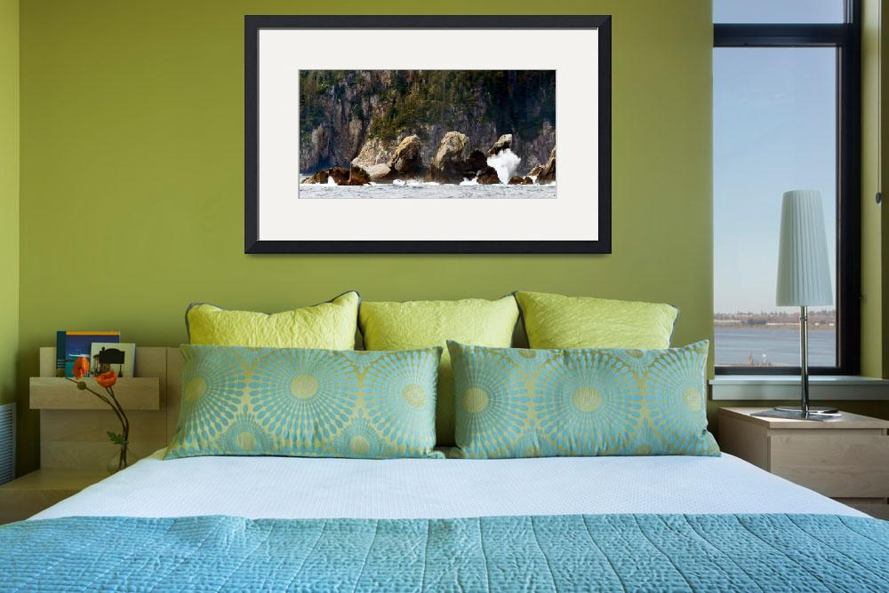 """""""The Rocky Shores Of The Kenai Fjords Peninsula&quot  (2012) by Lorraine_Sommer"""
