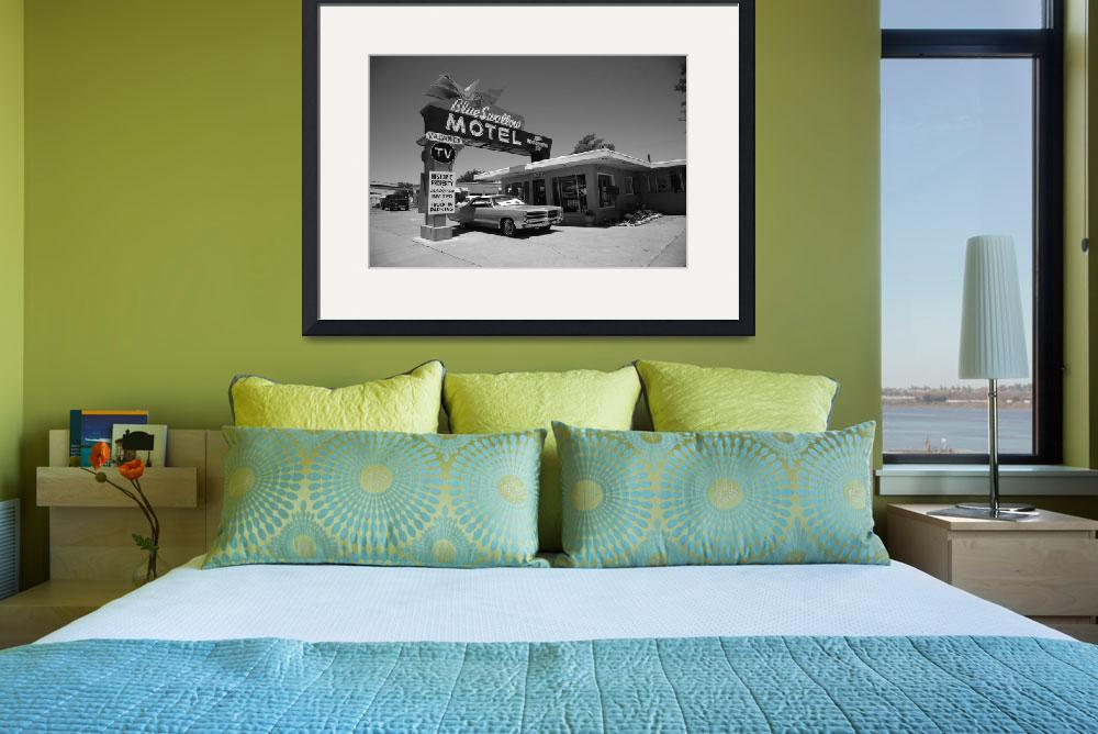 """""""Route 66 - Blue Swallow Motel 2012&quot  (2012) by Ffooter"""