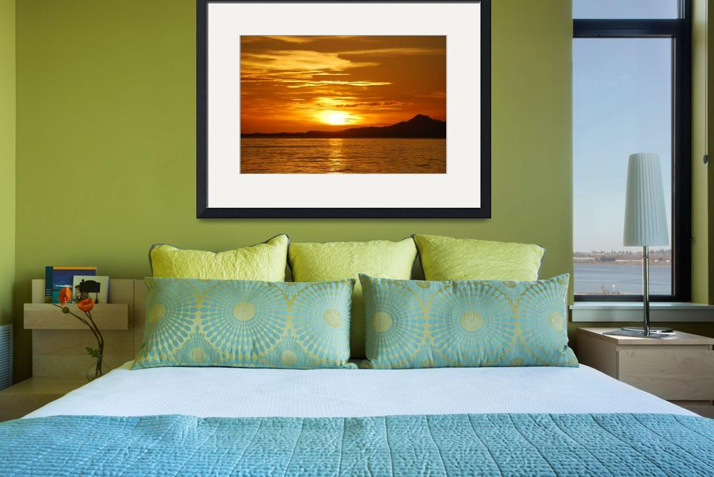 """Bora Bora Sunset 3""  (2008) by JWHPhotoArt"