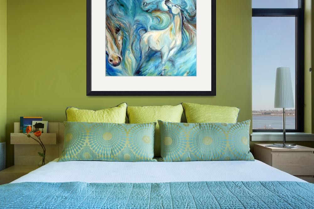 """""""BLUE MYSTIC SKY EQUINE&quot  (2010) by MBaldwinFineArt2006"""