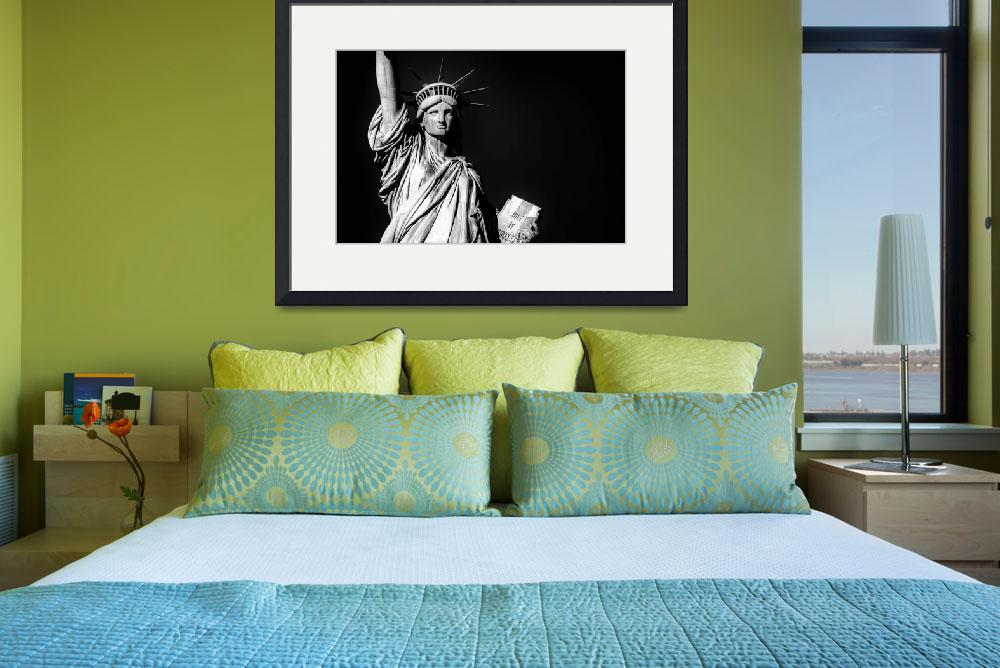"""Black and White NYC Photo Framed Print""  by buddakats1"