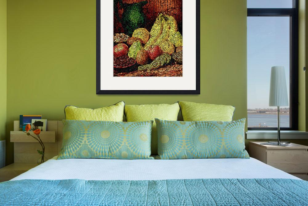 """Fresh fruit tiled&quot  (2007) by Stephensfineart"