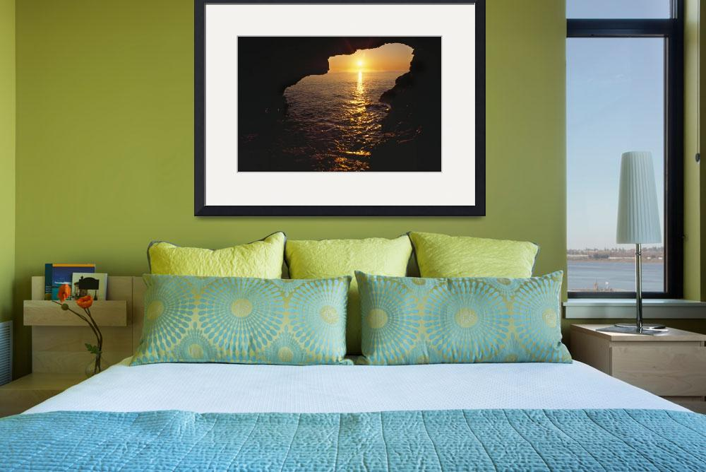 """""""View Of Ocean Sunrise From Inside Anenome Cave&quot  by Panoramic_Images"""