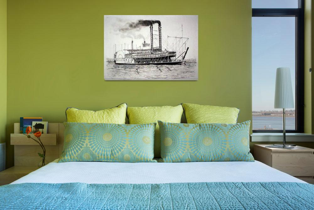 """""""Riverboat  J.M.WHITE""""  (2010) by RichardHall"""