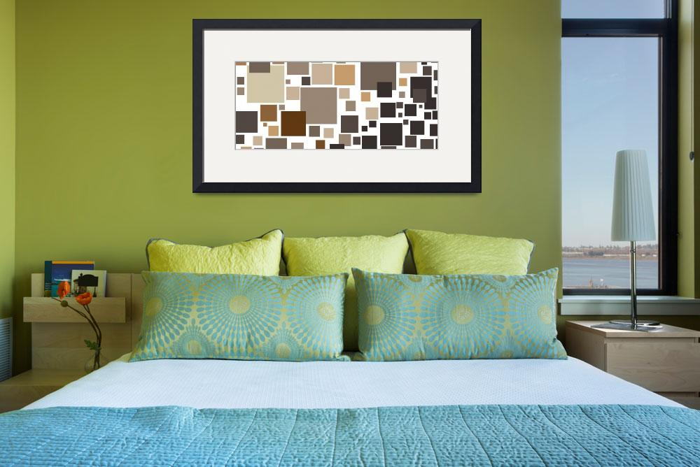 """Toffee Tiles: Abstract Art&quot  by karynlewis"