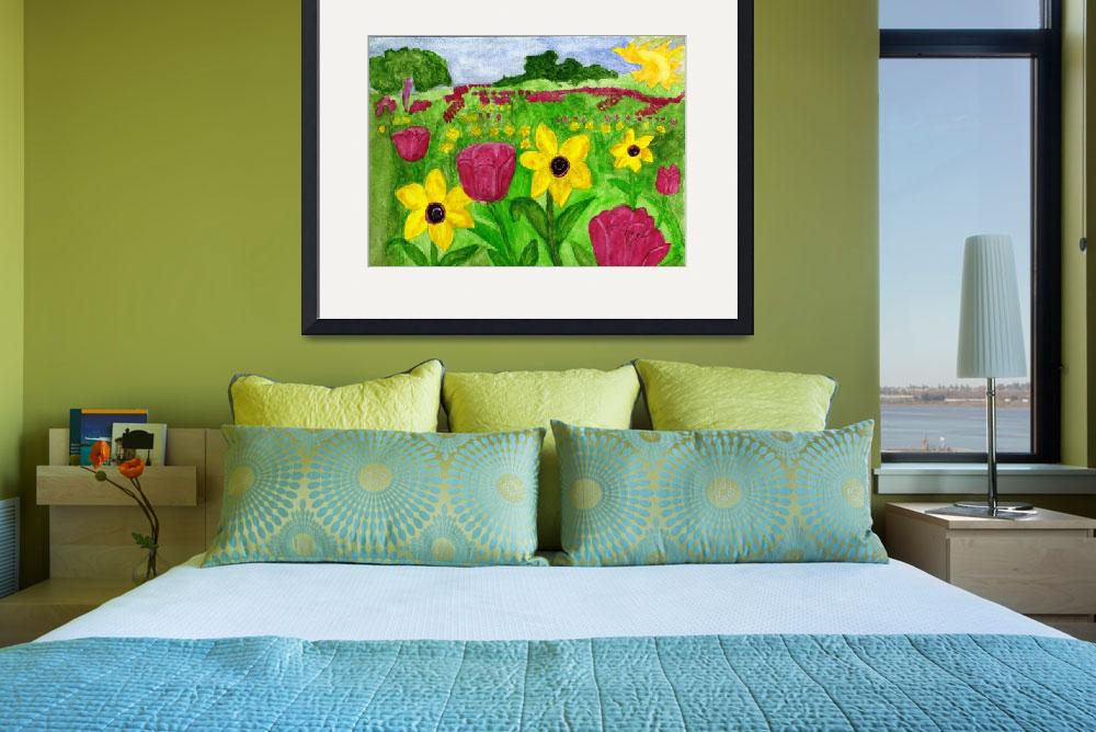 """""""Wildflower Field&quot  (2012) by dotsiescreations"""