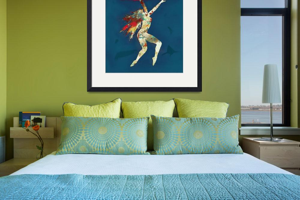 """""""Nude dancing pop stylised art poster&quot  (2013) by visualharbour"""