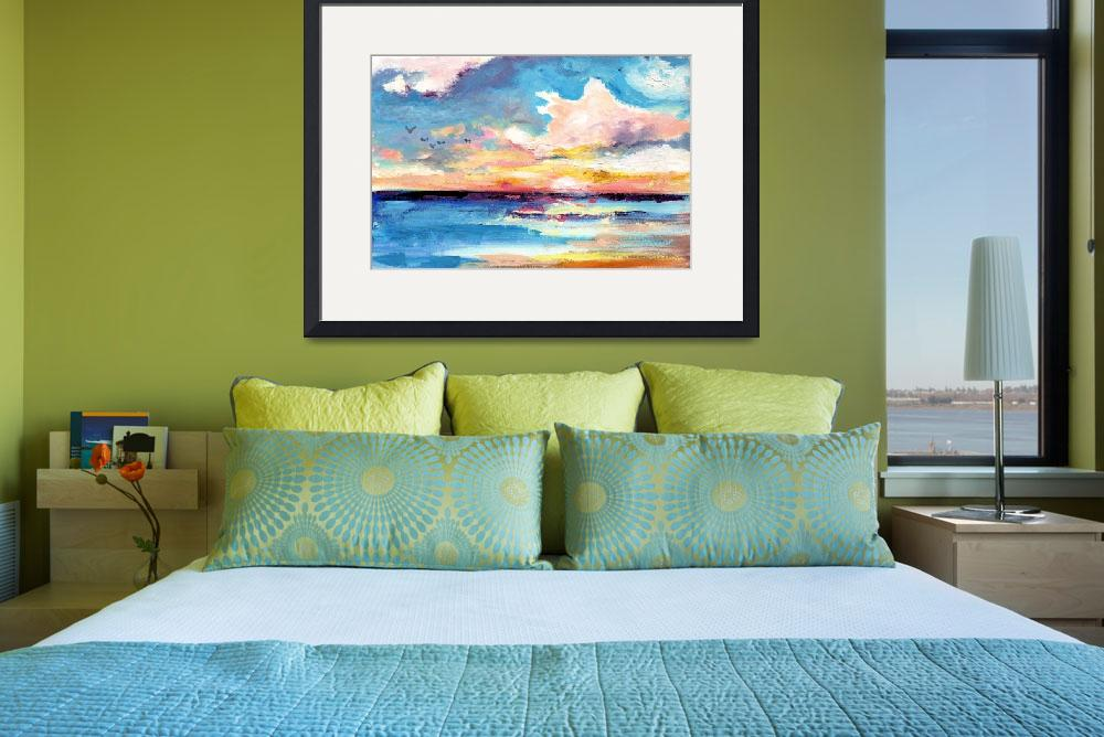 """""""Expressive Caribbean Sunset&quot  (2015) by GinetteCallaway"""