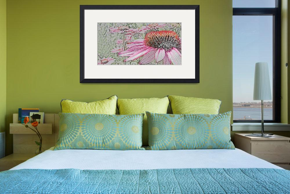 """Echinacea (colored pencil)&quot  (2010) by mikepdx"