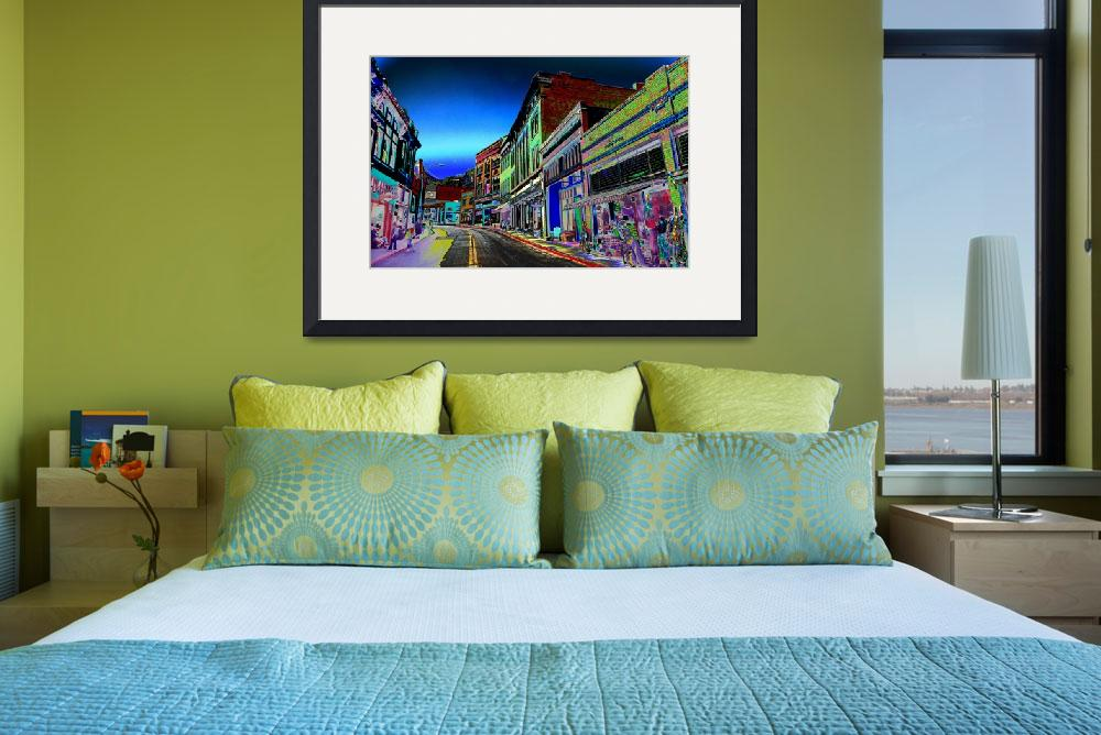 """""""Bisbee Main Street - Psychedelic&quot  (2011) by CharlesAugust"""