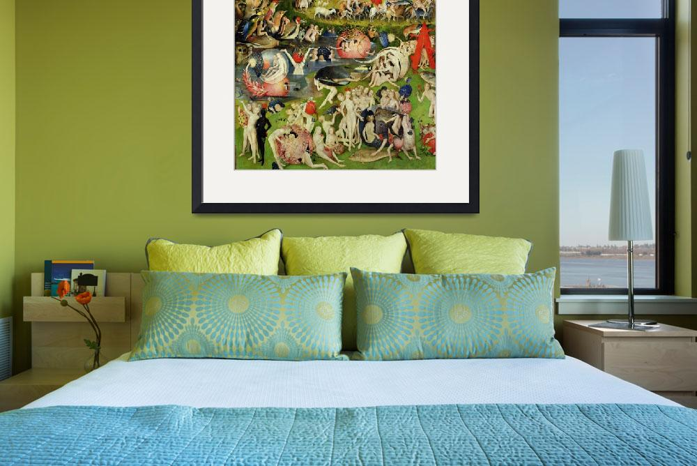 """""""The Garden of Earthly Delights: Allegory of Luxury&quot  by fineartmasters"""