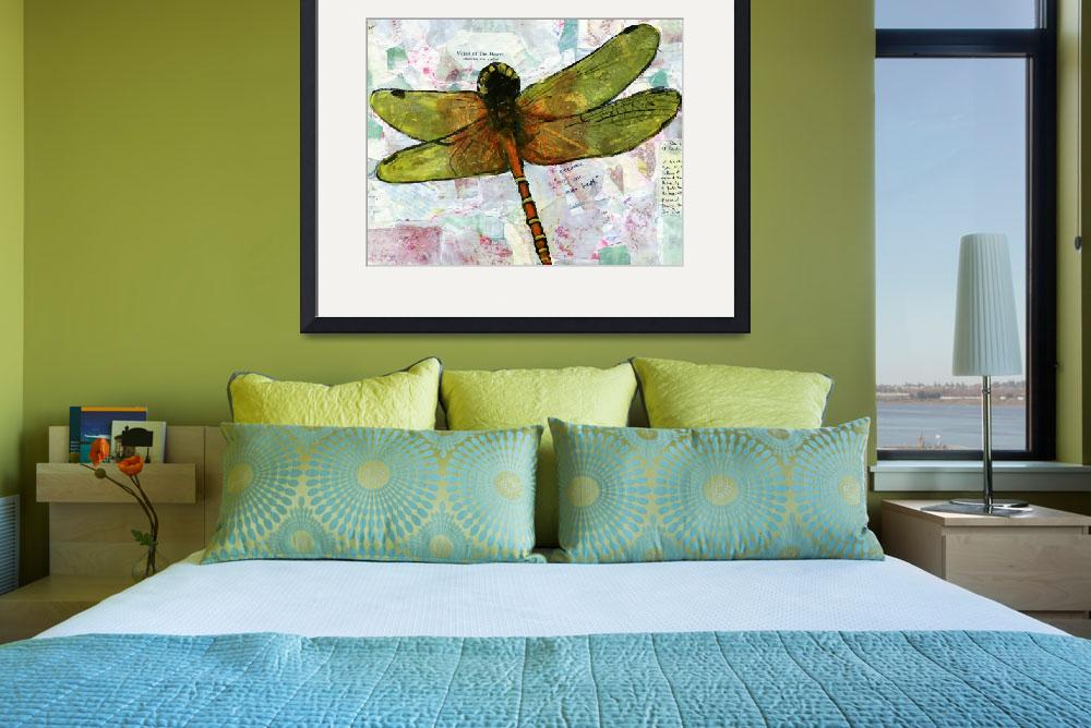 """Voice of the Heart, Dragonfly Print""  (2012) by schulmanart"