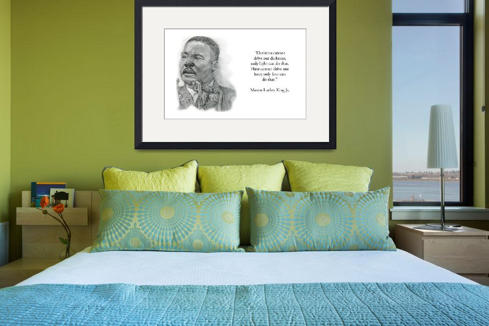 """""""Inspirational Portrait of Martin Luther King Jr&quot  by CreativeArtisticNuance"""