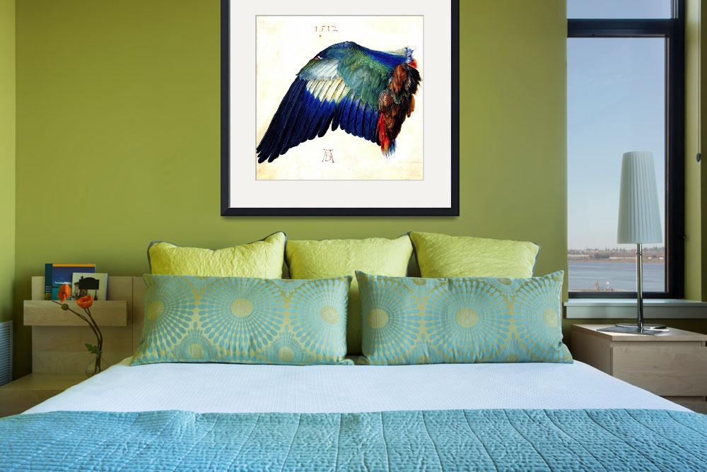 """""""Wing of a Blue Roller&quot  by ArtLoversOnline"""