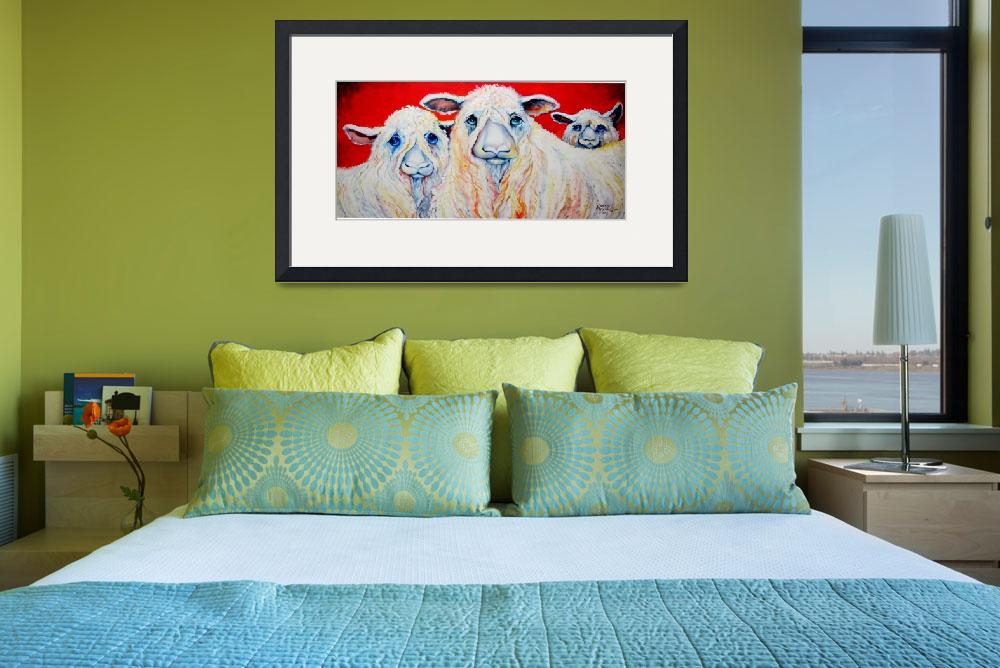 """SWEET WENSLEYDALES SHEEP&quot  (2009) by MBaldwinFineArt2006"