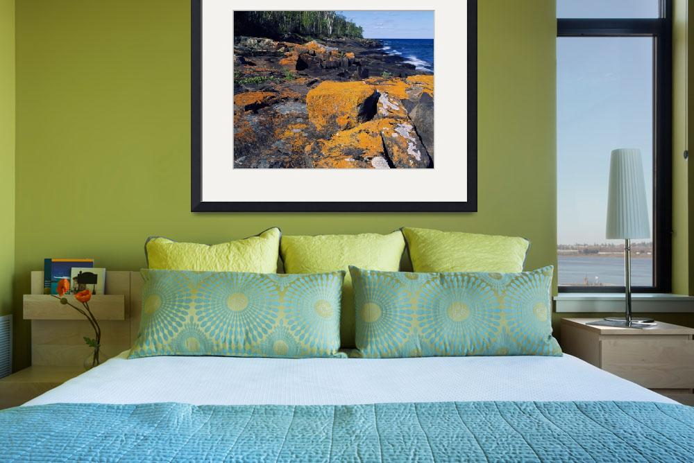 """""""Lichen-covered boulders on Lake Superior shorelin&quot  by Panoramic_Images"""