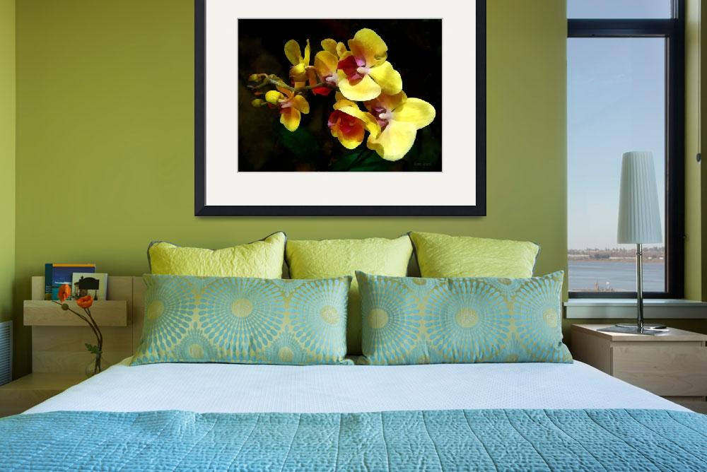 """""""Yellow Orchids Shadow and Light""""  (2013) by susansartgallery"""
