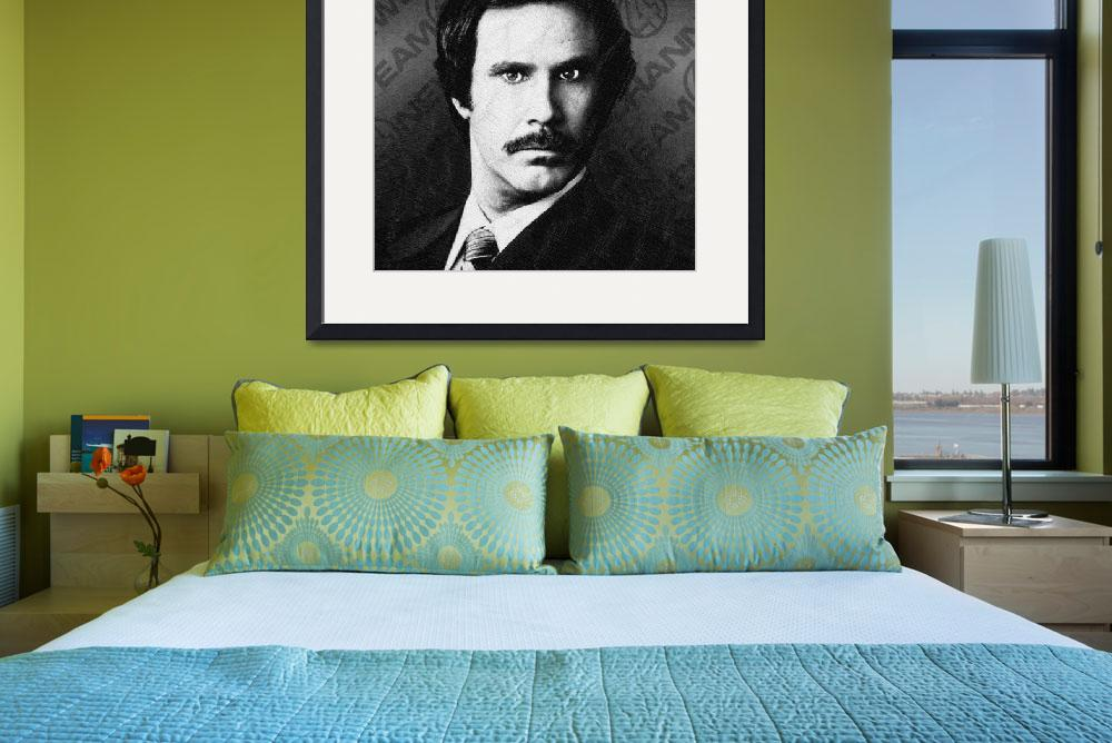 """""""Will Ferrell Anchorman The Legend Of Ron Burgundy""""  by RubinoFineArt"""