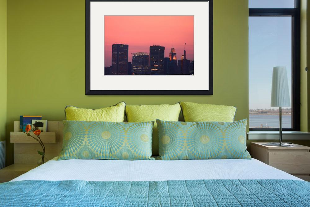 """""""A Baltimore Sunset&quot  (2008) by robbdee40"""