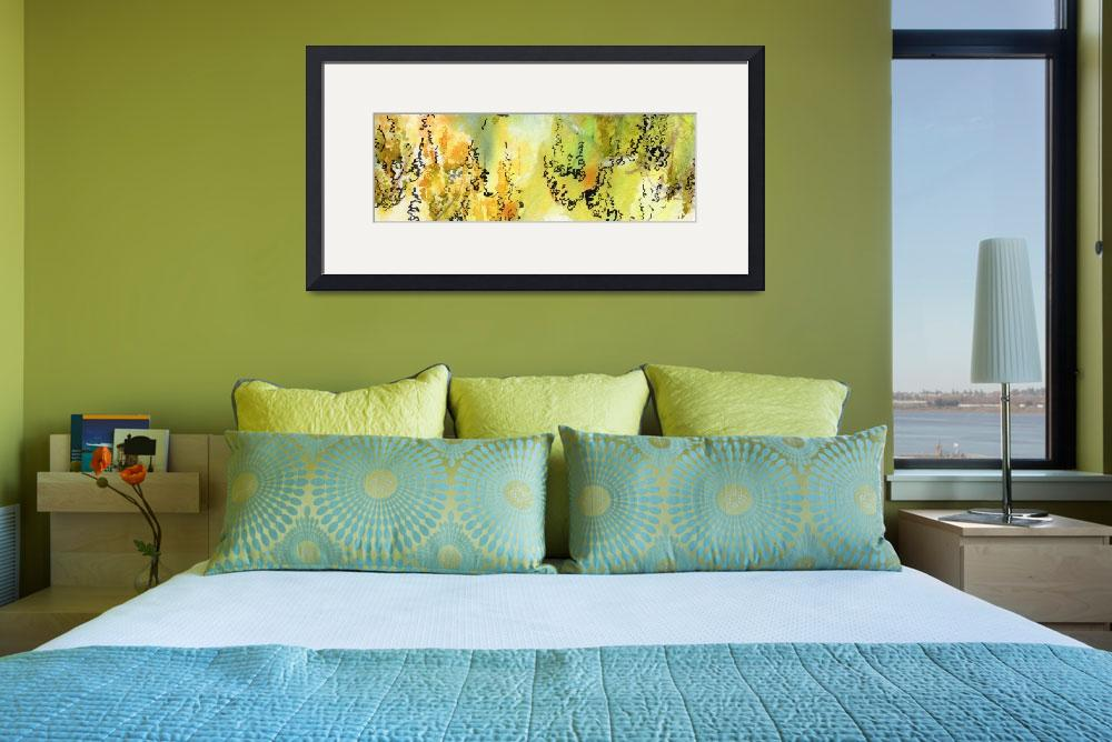 """""""Watercolor Calligraphy Panorama 1&quot  (2015) by GinetteCallaway"""