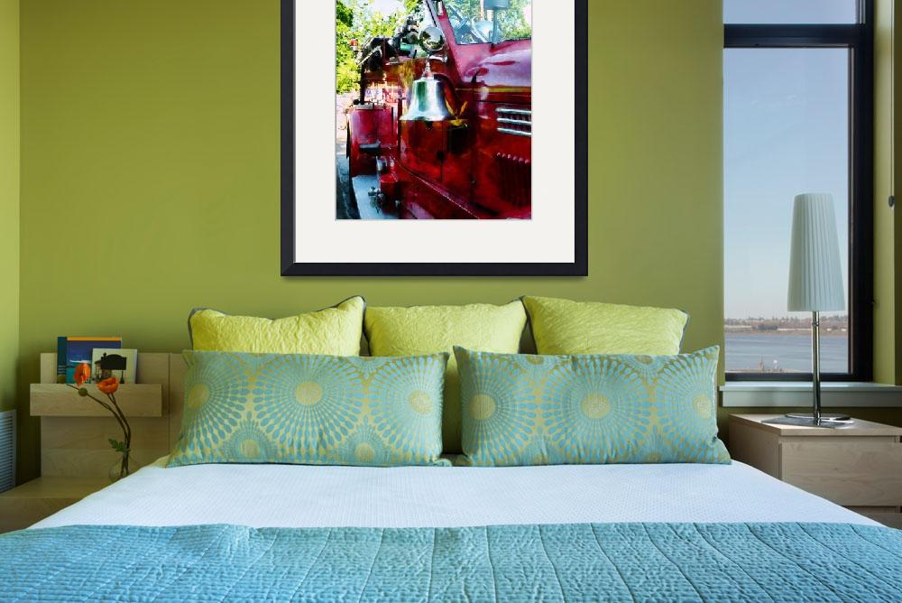 """""""Bell On Fire Engine&quot  by susansartgallery"""