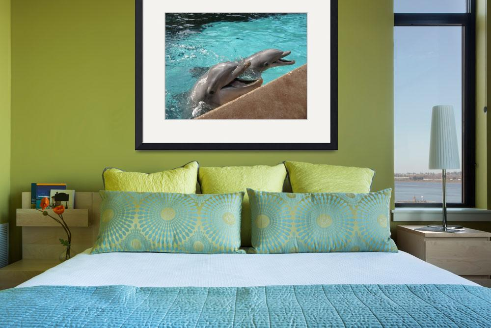 """""""TWO SMILEY DOLPHINS""""  (2010) by KATHY"""