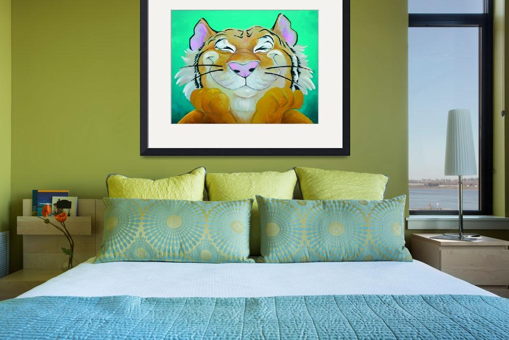 """""""Happy Tiger&quot  (2008) by Kelight"""