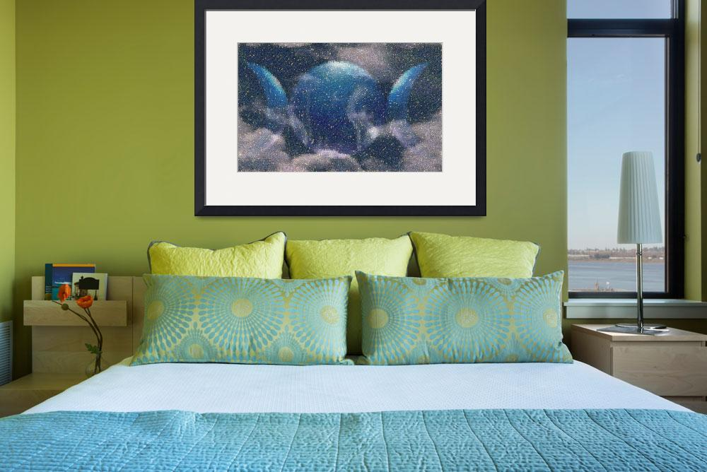 """Blue Goddess in Clouds&quot  (2007) by Capricorn"