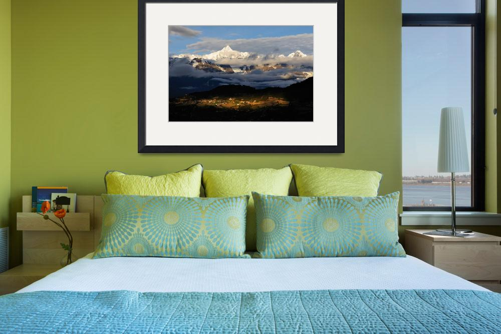 """""""Snow Mountain Sunrise&quot  (2008) by markamy"""