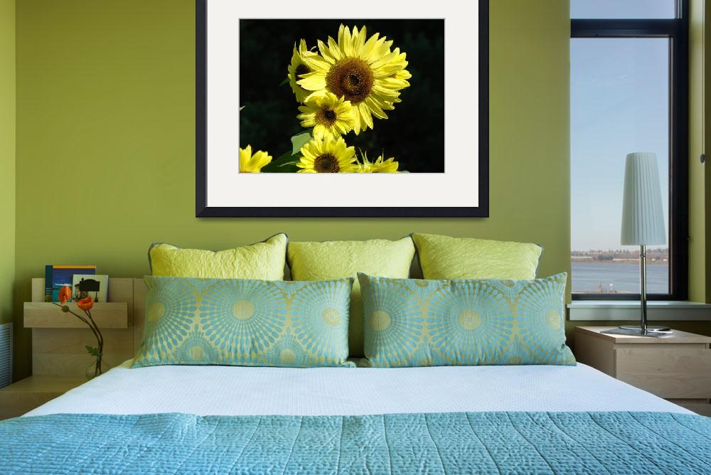 """OFFICE ART Sunflowers Yellow Sun Flowers Baslee&quot  (2009) by BasleeTroutman"