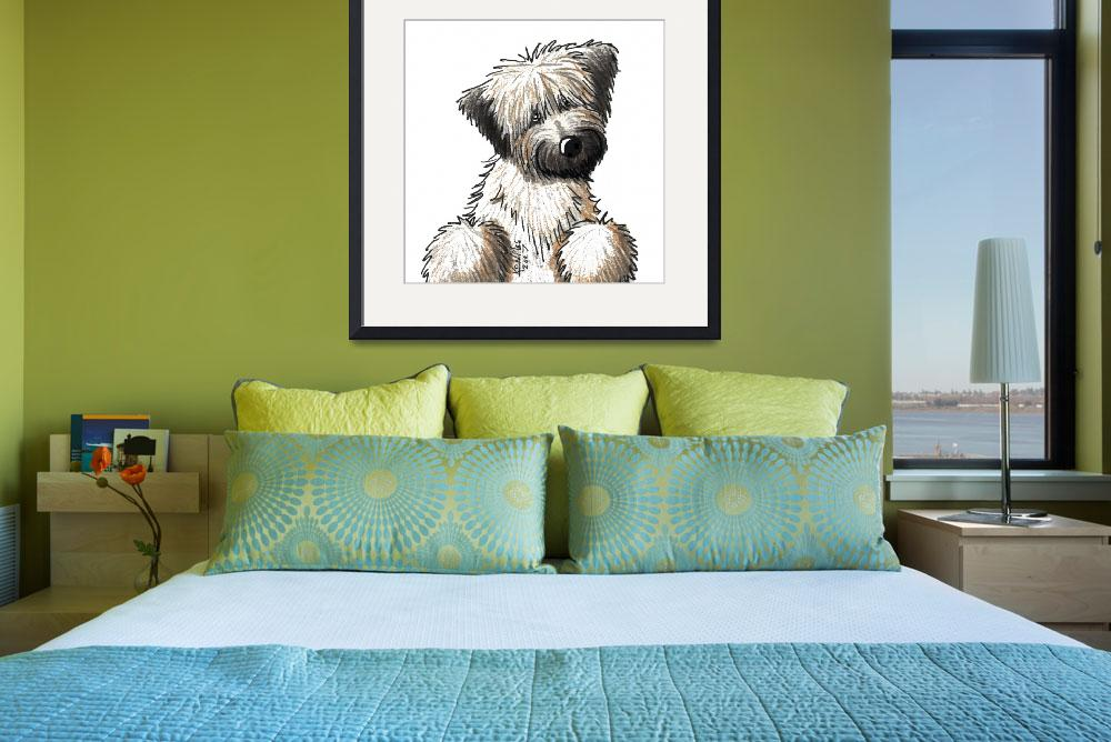 """Soft Coated Wheaten Terrier&quot  (2007) by KiniArt"